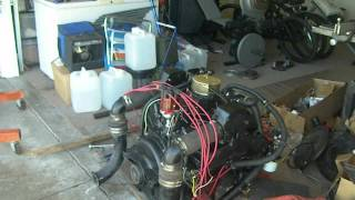 mercruiser (260) 5.7 350 chevy setting the timing and firing up the motor  in the driveway - youtube  youtube