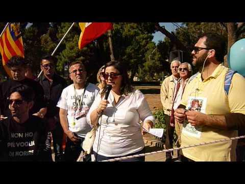 Malati si dissanguano in piazza, Corteo pro-Stamina anche in Sicilia, Video