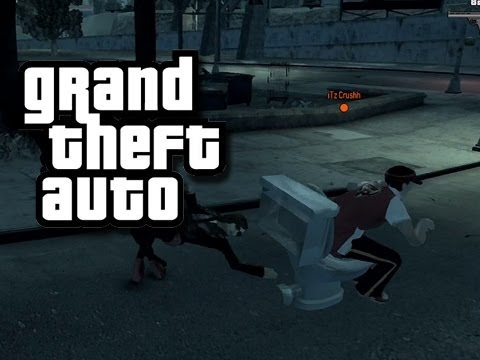 GTA - MODDED Funny Moments 1! (Toilet Driving!)