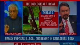 Illegal quarrying at Bengaluru's Banerghatta national park; netas-babus all in on it? — Nation at 9 - NEWSXLIVE