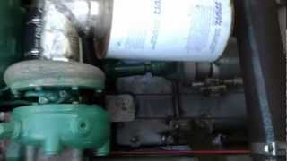 volvo td 70 e on a hamilton jetdrive cold idle run youtube rh youtube com