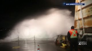 West Coast Battles Massive Winds And Waves | NBC Nightly News - NBCNEWS