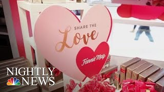 Last-Minute Lovebirds Race To Show Valentine's Day Affections | NBC Nightly News - NBCNEWS