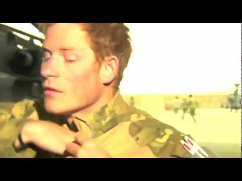 Dramatic moment Prince Harry runs for an ice cream van during Afghanistan interview