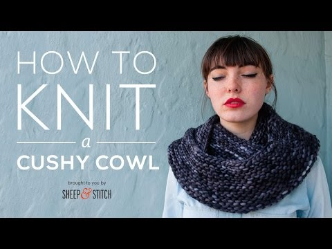 How to Knit a Cushy Cowl