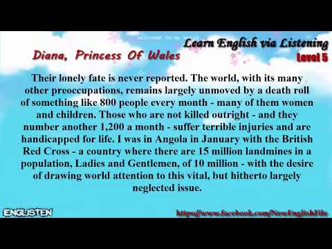 Unit 12 Diana,  Princess Of Wales (1) | Learn English via Listening Level 5