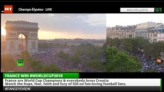 World Cup Final France v Croatia #FansEyeView LIVE +Tape - RUSSIATODAY
