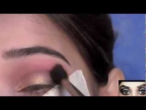 Traditional Indian Pakistani Bridal Makeup Tutorial   Pink, Gold and Black