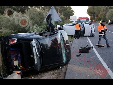 Accidente de madrugada con doble vuelco en la carretera de la muerte