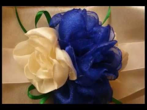 Aranjamente florale pentru lumanari de botez / Flower arrangements for Christening candles HANDMADE