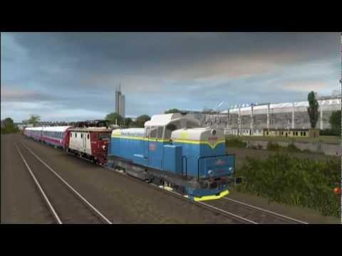 Iesirea locomotivei EC 052 din depoul Bucuresti Calatori