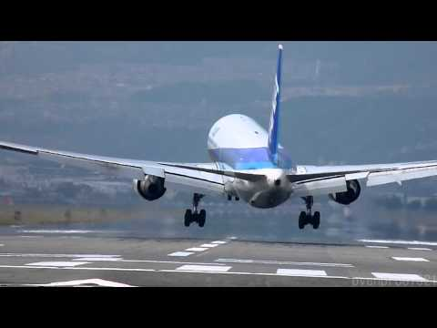 Crosswind Landings of 21 Airplanes at OSAKA Airport