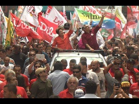 TV Costa Norte - Dilma é recepcionada por militantes da Baixada Santista