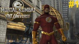 Mortal Kombat vs DC Universe PS3 Gameplay #1: The Flash [I'm on SPEED!]