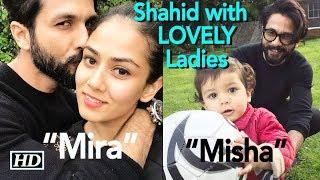 "Shahid with his LOVELY Ladies- wifey ""Mira"" & daughter ""Misha"" - IANSINDIA"