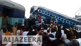 India: More than 20 dead in Uttar Pradesh train derailment - ALJAZEERAENGLISH