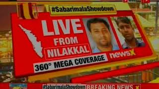 Sabarimala Showdown: Doors to open for women at 5pm; protesters try to stop women - NEWSXLIVE