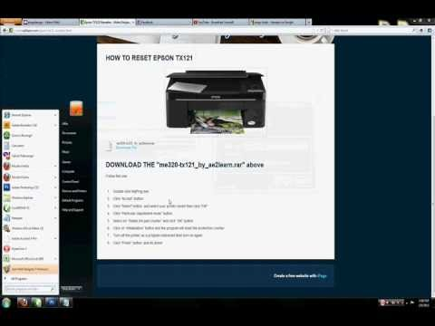 How to Reset Epson TX121 Printer