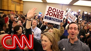 Cheers erupt at Jones headquarters - CNN