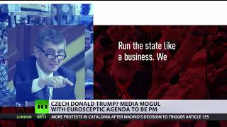 'Czech Donald Trump': Media mogul with Euroskeptic agenda to be PM - RUSSIATODAY