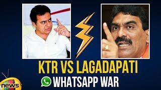 KTR Leaks Lagadapati Whatsapp Message | KTR Vs Lagadapati | Telangana Survey 2018 | Mango News - MANGONEWS