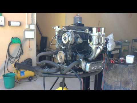 Motor Fusca Itamar  2300 1º funcionamento. Performance By Maurício Lanna