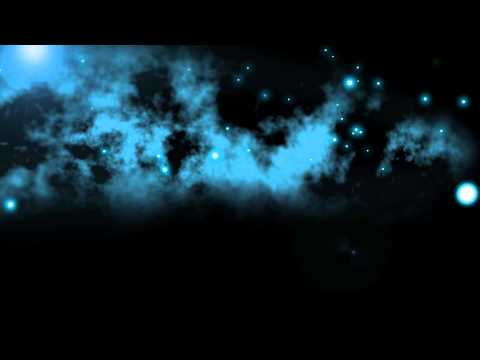 Strange Night with Mist Clouds Particles and Flares - Free HD Animation