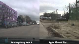 شاهد الفرق بين ثبات كاميرا النوت 4 و الأيفون 6 بلس