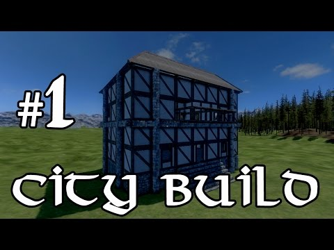 Medieval Engineers City Build - First House! #1