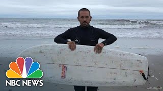 Surfer Makes Board From 700 Dunkin' Donuts Cups And Plastic Drinking Straws | NBC News - NBCNEWS