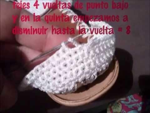 sandalias tejidas a crochet con suela para adulto paso a paso