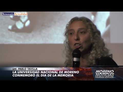 La Universidad Nacional de Moreno conmemoró el Día de la Memoria