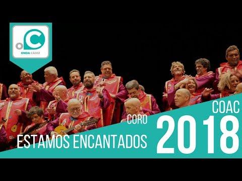 La agrupación Estamos encantados llega al COAC 2018 en la modalidad de Coros. En años anteriores (2017) concursaron en el Teatro Falla como La dinastía, consiguiendo una clasificación en el concurso de Preliminares.