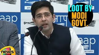 AAP Spokesperson Raghav Chadha on Legalised Loot By Modi Govt with Surprizing Figures | Mango News - MANGONEWS