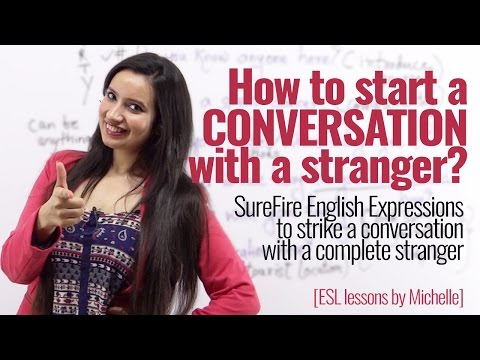 How to start a conversation with strangers?  English phrases to speak English with confidence.
