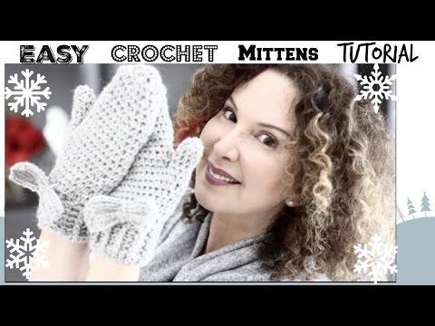 Easy Crochet Mittens Tutorial