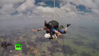 102yo woman sets skydiving record - RUSSIATODAY