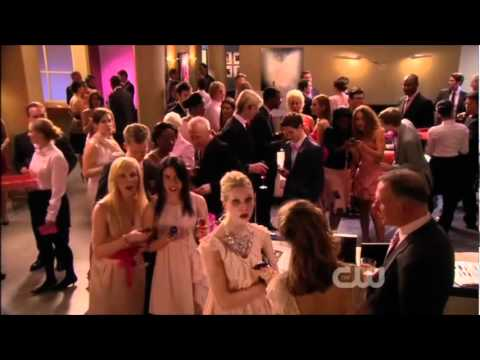 Gossip Girl 4x19 Petty In Pink | Pink Party Dan&Blair Kiss