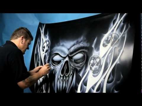 how to airbrush skulls - Stuart Vimpani