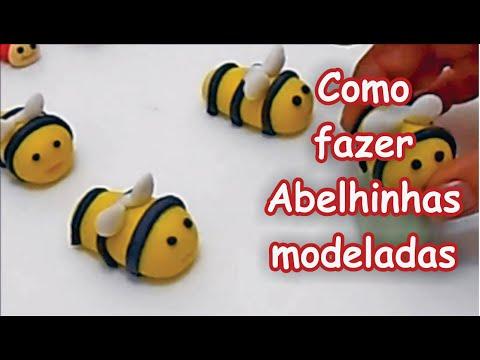como modelar docinhos abelhinhas
