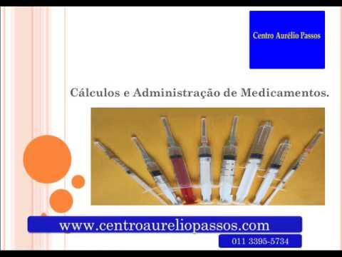 Apresentação do Docente do Curso de Cálculo e Adm de Medicação.