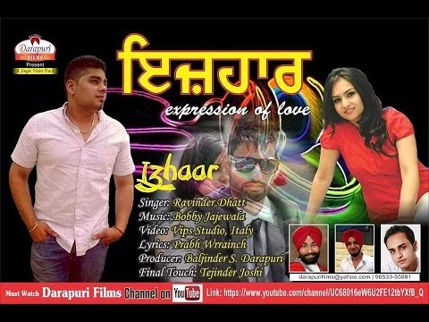 Izhaar || Ravinder Dhatt || Darapuri Films || Full HD Song || Official Video