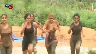 "Beauty Ladies "" Mud Run Event ""  in Hyderabad : TV5 News - TV5NEWSCHANNEL"