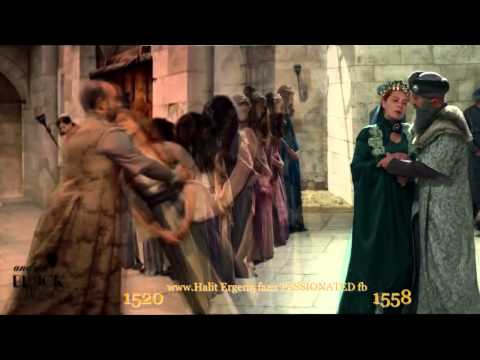 Magnificent Century ''Suleyman's moments'' 1520 &1558 Hurrem faints in Suleyman's arms !!!