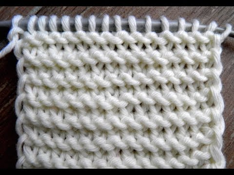knitting patterns Twisted KNIT stitches /TUTO point mousse, mailles endroit torses  ( CONTINENTAL )