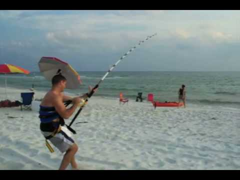 Florida Tiger Shark Fishing From the Beach Monster