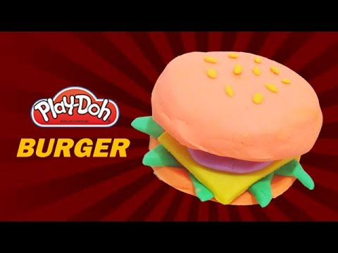 Play Doh Food | How To Make Playdoh Food Burger With Playdough