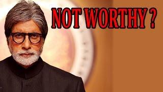 Amitabh Bachchan does not considering himself worth Bharat Ratna Award? | Shamitabh Movie