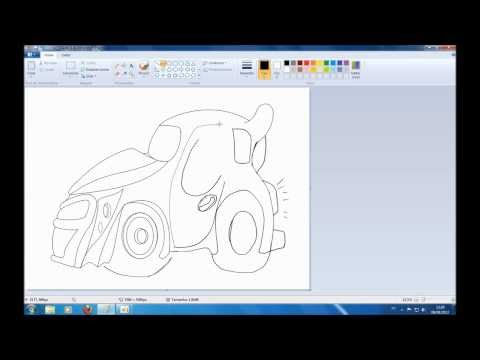 Como criar seus proprios desenhos de carros e imprimir para colorir