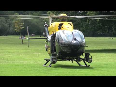 Metropolitan Police Helicopter - Start up, Take off and High Speed Pass!
